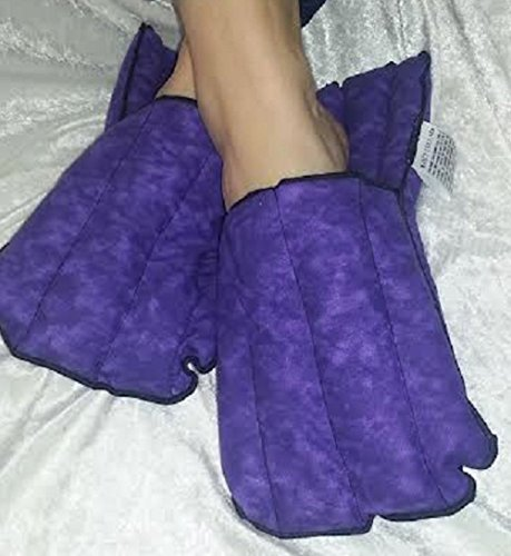 Microwave Hot and Cold Purple Non-scented Kozy Slippers By Kozy Collar ()