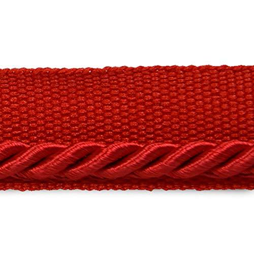 Ebony 1/8in Twisted Lip Cord Trim Red