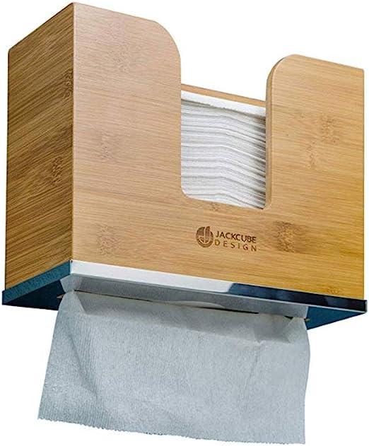 Paper Towel Dispenser Bamboo Paper Towel Holder Wall Mount /& Countertop Toilet