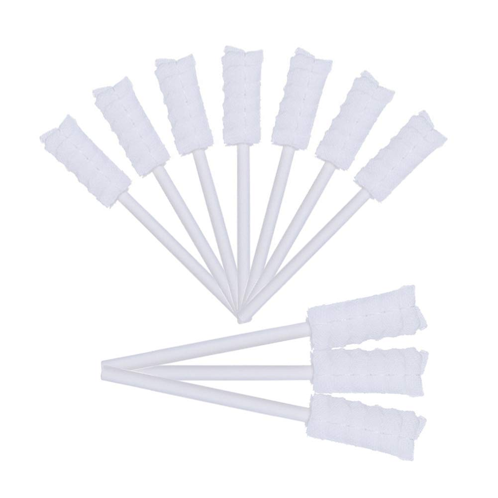 10PCS/Set Disposable Baby Toothbrush Tongue Cleaner Gauze Toothbrush Infant Oral Cleaning Stick Dental Care