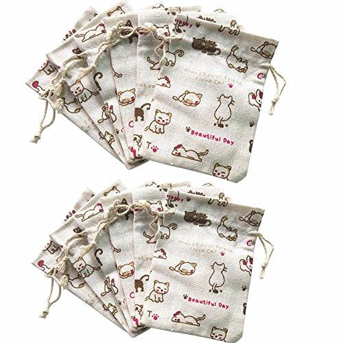 Eco Friendly Mini Cotton Drawstring Bags - 8