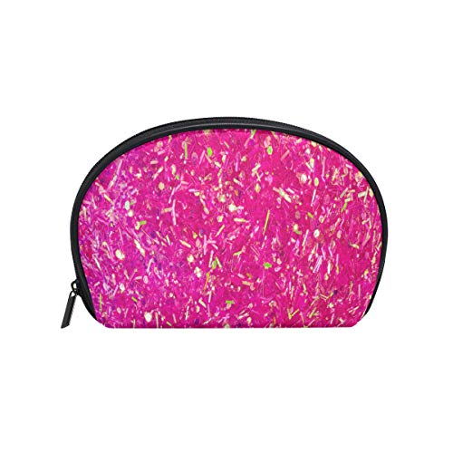 (Toiletry Bag Pink Neon Light Color Womens Beauty Makeup Case Brush Cosmetic)