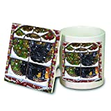 Please Come Home For Christmas French Bulldog Sitting In Window Mug and Coaster Set MUC48396