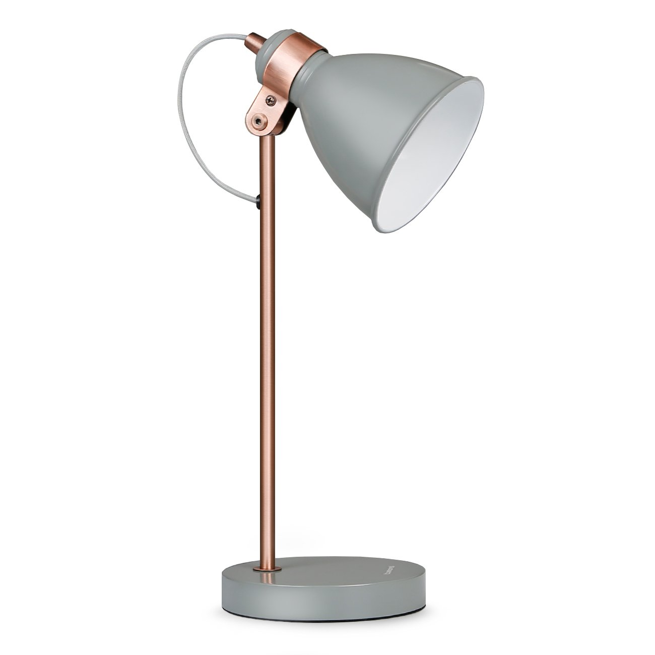 Tomons Moderne Tischlampe mit Metallfassung, Leselampe im Industriedesign für Arbeits- & Wohnzimmer mit verstellbarem Schirm, inkl. 4 W LED