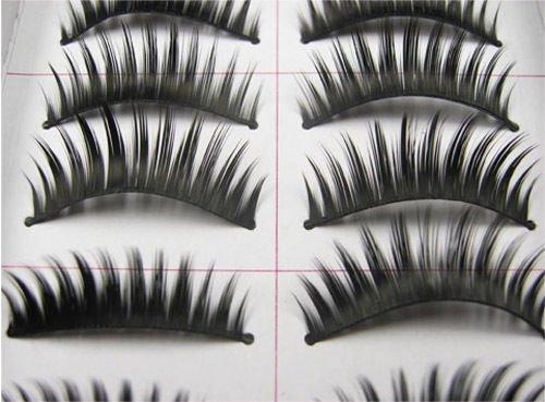 Katy Perry Pink Cat Costume (doll2u 10 Pairs Natural Long Thick Black False Eyelashes Charming Eye Lashes Makeup#C13)