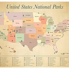Amazoncom Cork Board Map Push Pin United States Map Includes - Us travel map on cork board