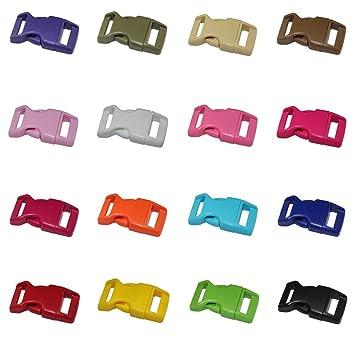 Ogquaton Hebillas de plástico Cierre de liberación rápida Hebillas de plástico Hebillas de liberación Lateral Clips para cinturón Correa DIY Mochila Craft ...