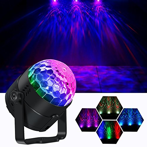 Disco Ball Party Lights, OPPSK Multicoloured Water Wave LED Lights for Room by IR Remote Disco Strobe Light Party Supplies