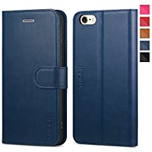 iPhone 6s Case iPhone 6 Case, TUCCH iPhone 6s Wallet Case, Premium PU Leather Flip Cover with Foldable Kickstand, Card Slots and Magnetic Clasp Compatible iPhone 6/6s - Blue