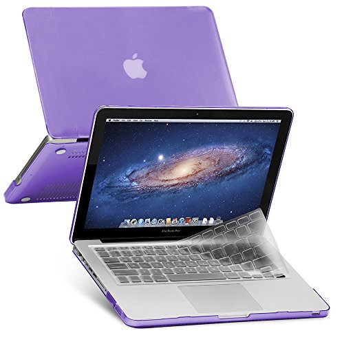 GMYLE Plastic Hard Shell Case & Keyboard Cover Only Compatible Old MacBook Pro 13 Inch (A1278 CD-ROM), Release Early 2012/2011/2010/2009/2008, Purple