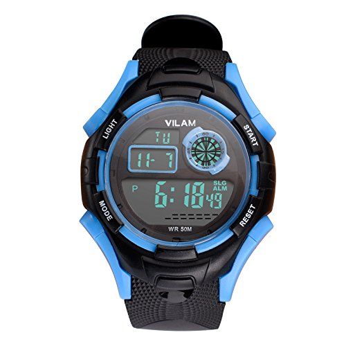 Kids Watch Waterproof Children Electronic Watch - Lighting Watch 50M Waterproof Outdoor Sports,LED Digital Stopwatch Chronograph, Alarm, Calendar Date Window Child Wrist Watch for Boys,Girls