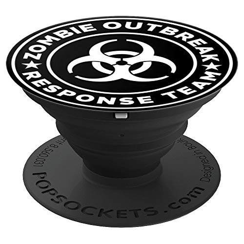 Zombie Response Team Popsocket Funny Halloween Popsocket - PopSockets Grip and Stand for Phones and Tablets ()