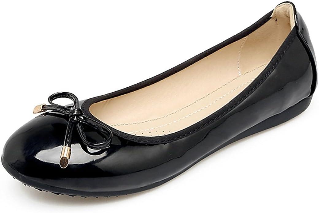 Meeshine Womens Foldable Bow Slip On