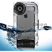 Cisno iPhone 5/5S/SE Case, Dive Housing Photo Video Underwater, 40m/130ft Waterproof Diving House Cover Swimming for Apple iPhone 5 /5s/SE