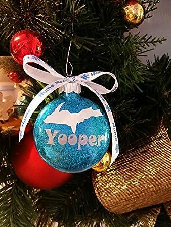 Amazon.com : Yooper, Upper Peninsula, Michigan, Michigan Christmas Ornament, Glitter Ornament, Glitter Christmas Ornament, Christmas Gift, Yooper Gift ...
