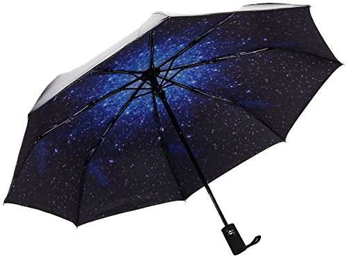 renzer-travel-compact-starry-sky-auto-open-and-close-foldable-girls-umbrella-blue