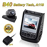 Dash Cam, Car Dashboard Camera Recorder 1080P FHD GPS 170° Wide Angle Lens with Night vision, G-SENSOR, Loop Recording ,Parking Monitor and LCD Screen