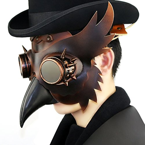 Steam Punk Mask The Plague Beak Doctor Mask Halloween Gift Stage Property Cosplay Costume Ball Party (Halloween Party Niagara Falls)