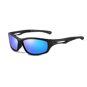 ca843af521 AMZTM Gafas de Sol Polarizadas Deportivas para Hombre Mujer, Correr  Ciclismo Pesca Conducción Gafas Espejadas, Marco Irrompible TR90(Marco  Negro Mate, ...