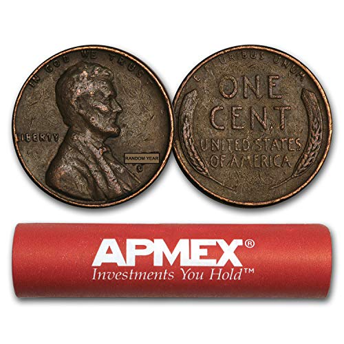 Wheat Roll Cent - 1909-1958 Wheat Cent 50-Count Roll Avg Circ Cent Very Good