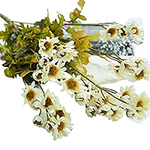 MARJON FlowersArtificial Daisy Silk Simulation Flowers Wedding Bridal Bouquet Home Room Decor 25
