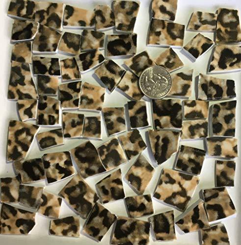 Mosaic Art and Craft Supply Leopard Fur Print Tiles B031