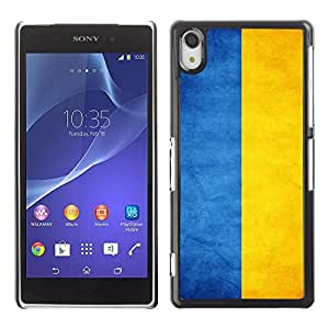Shell-Star ( National Flag Series-Ukraine ) Snap On Hard Protective Case For SONY Xperia Z2 / D6502 / L50W