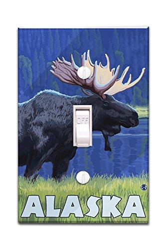 Alaska - Moonlight Moose (Light Switchplate Cover) Moonlight Moose