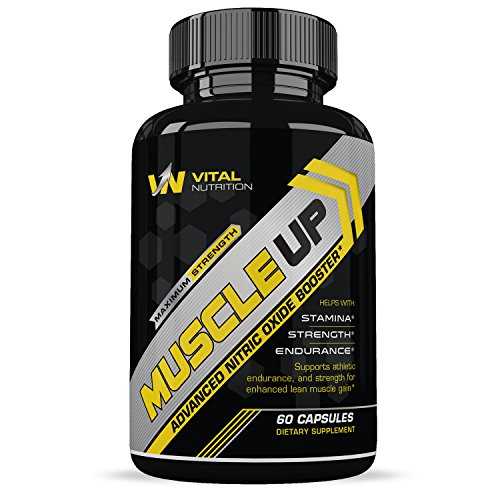 MUSCLE UP Nitric Oxide Supplement L-Arginine 1200mg Extra St