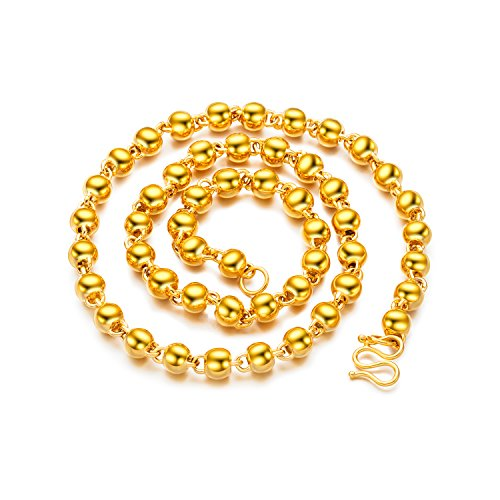 Gold Tone Beaded Chain - 24