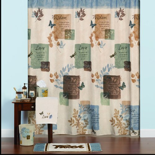 Faith Fabric Shower Curtain