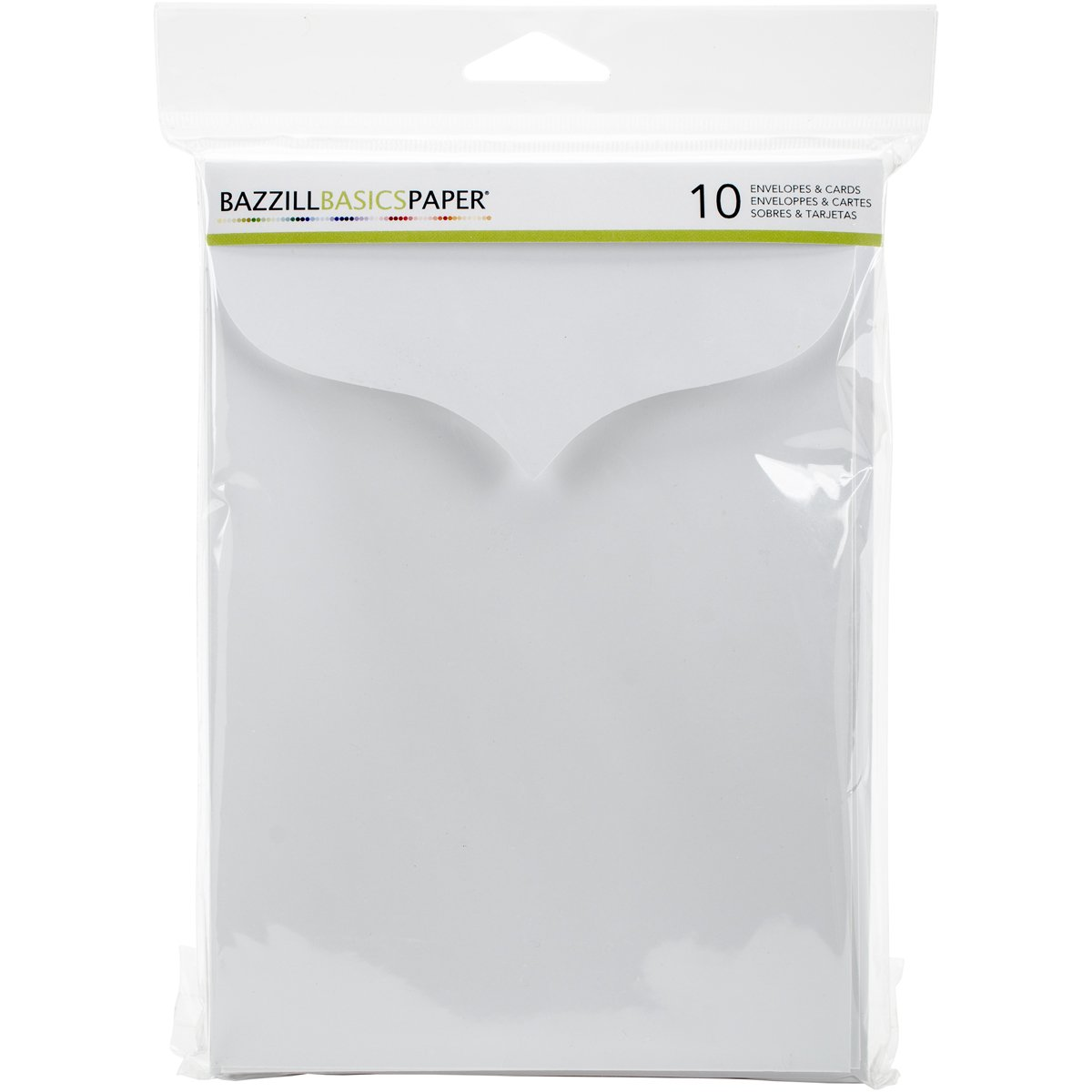 5 x 7 White Scalloped Bazzill Basics Paper 10 Piece American Crafts Cardmaking Bazzill Cards and Envelopes