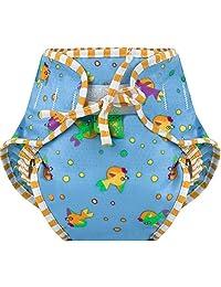 Kushies Baby Unisex Swim Diaper - Medium,Goldfish Print,Medium,
