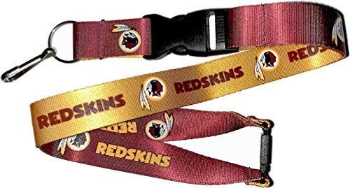 aminco NFL Washington Redskins Reversible Lanyard, Maroon/Gold