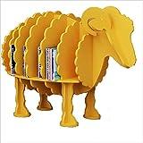 Creative Animal Modeling Sub-Grid Storage Shelf, PVC Wood Plastic Panel Crafts Floorstanding Ornament,Save Space,Red