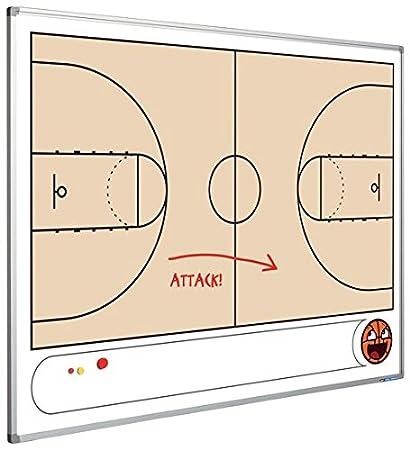 Pizarra táctica con Baloncesto Campo magnético - - 90 x 120 ...