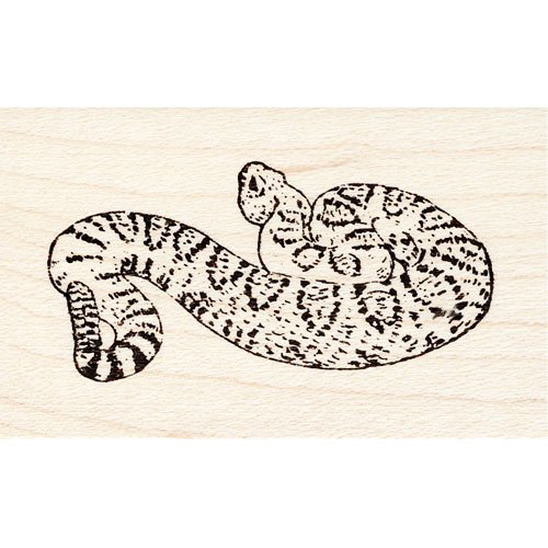 Western Diamondback Rattlesnake Rubber Stamp