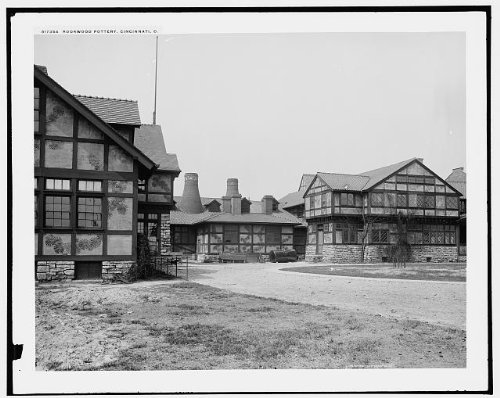 HistoricalFindings Photo: Rookwood Pottery Co,industry,buildings,production,paths,Cincinnati,Ohio,OH,1900