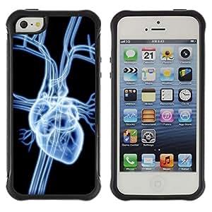 LASTONE PHONE CASE / Suave Silicona Caso Carcasa de Caucho Funda para Apple Iphone 5 / 5S / Heart X Ray