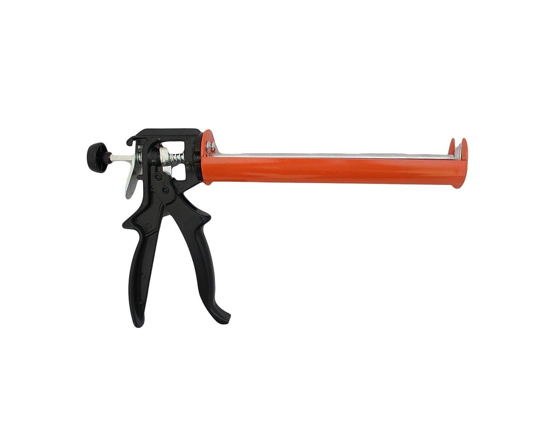 Pistolet à joints à calfeutrer Coque en silicone Pistolet à cartouche standard Tube de 310ml ou plus puissant professionnel et durable: Black Edition DURAGUN