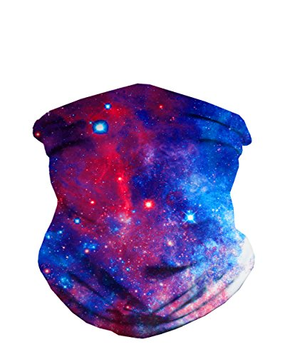 iHeartRaves Space Galaxy Print Seamless Face Mask Bandana (Astronaut Mask)