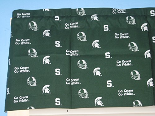 (Handmade Green Michigan State University Logo Window Curtain Valance)