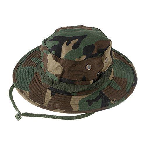 VAlink Outdoor Sports Sun Caps, Camouflage Hunter Hat, Sniper Combat Caps, Round Rim Hat for Fishing Trekking Camping Hiking Head Wear Hats for Unisex Girls Men Women