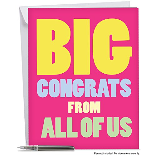 J3893CGG Jumbo Funny Congratulations Card: Big Congrats From Us With Envelope (Extra Large Version: 8.5'' x 11'')