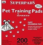Superpads Original 22 x 23-Inch Pet Training Pads, 200-Pack