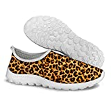 FOR U DESIGNS Classic Leopard Print Comfort Women's Slip-On Water Lazy Running Shoes Size 9