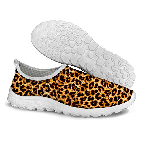 FOR U DESIGNS Classic Leopard Print Comfort Women's Slip-On Water Lazy Running Shoes Size 7