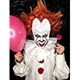"""Evil Clown Halloween Makeup Kit – Professional Costume Cosmetics for a Creepy""""IT"""" Inspired Look – Dress Up Like Pennywise with Pro-Quality Paint and Brushes – by Mehron"""