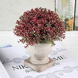 JruF [Small Cup Pot Flower] Purple White Pink Lamellar Flower Hollow Plum American Country Simulation Flower Plant Living Room Fake Bonsai Flower Decoration Table Decoration 16