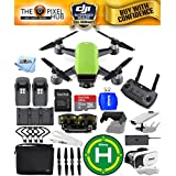 DJI Spark Fly More Combo EXTREME ACCESSORY BUNDLE With Landing Pad, 32GB Micro SD Card Plus Much More (Meadow Green)